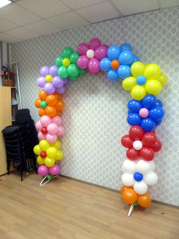 Школа мастеров Волшебник - цветочная арка из воздушных шаров на каркасе для детского праздника