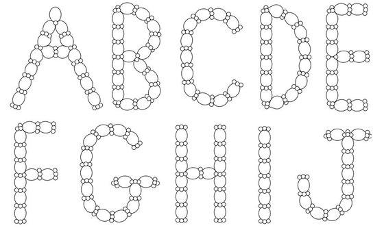 Буквы из LINK-O-LOON