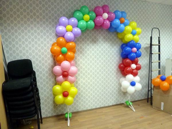 Изготовление арки из воздушных шаров на каркасе из трубы
