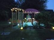 Pavillon beleuchtet