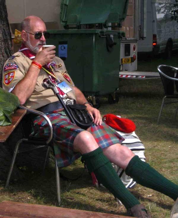 Auch schottische Pfadfinder brauchen Pausen....