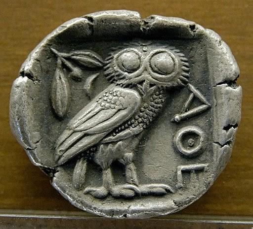 Tetradracma  (Século V a.C.) Utilizada en Grecia e Exipto