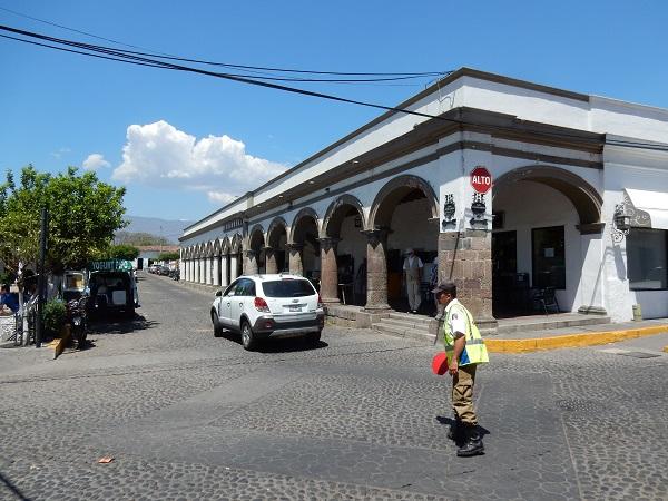 Im historischen Zentrum von Comala