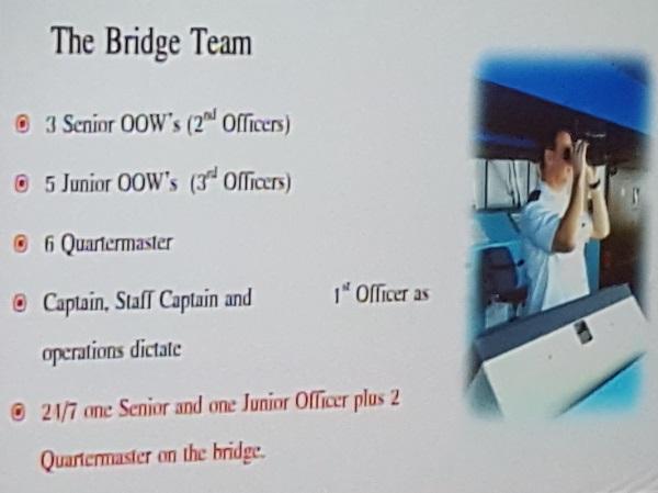 Das Team auf der Brücke