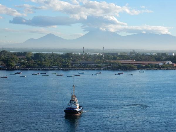Morgenstimmung mit den Vulkanen von Nicaragua