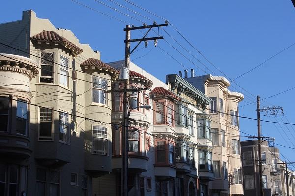 Die typischen Häuser von San Francisco