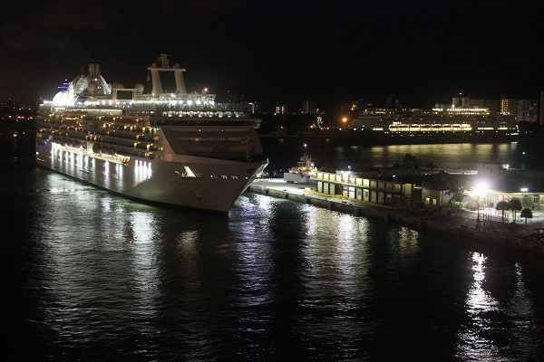 Ankunft am Morgen früh im Hafen von Fort Lauderdale