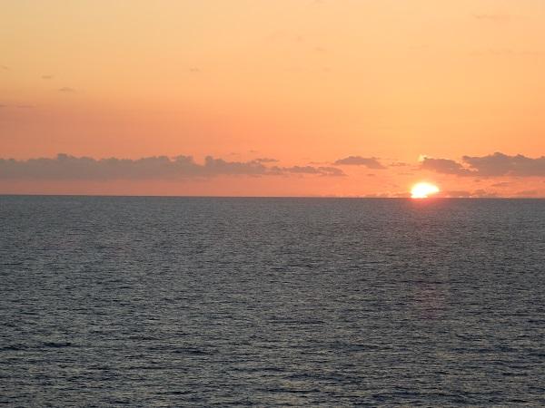 Wieder zurück auf dem Schiff, geniesse ich den Sonnenuntergang