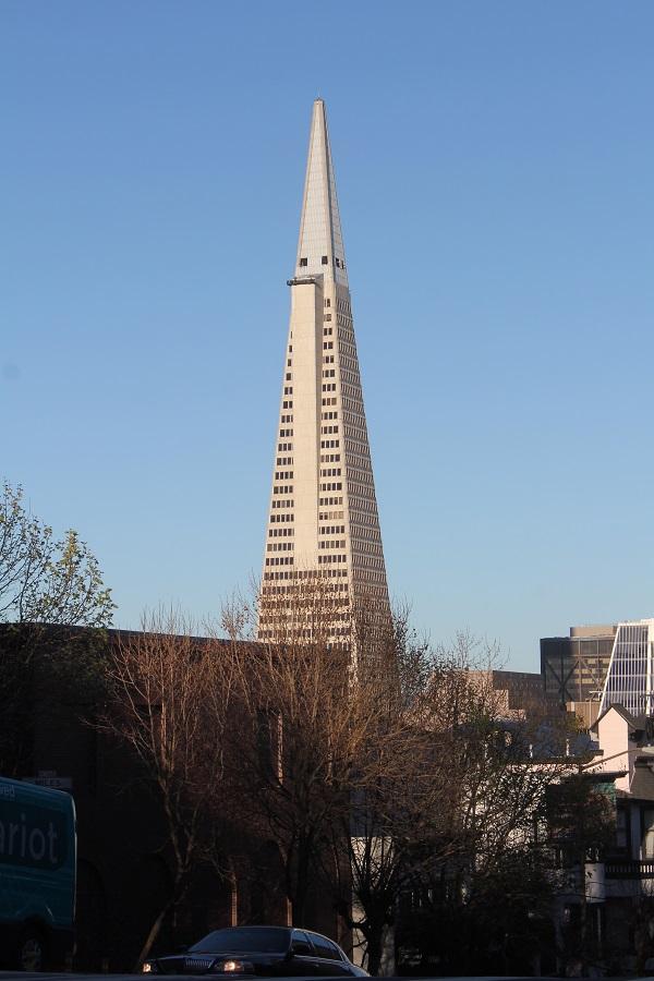 Eines der Wahrzeichen von San Francisco, die Pyramide