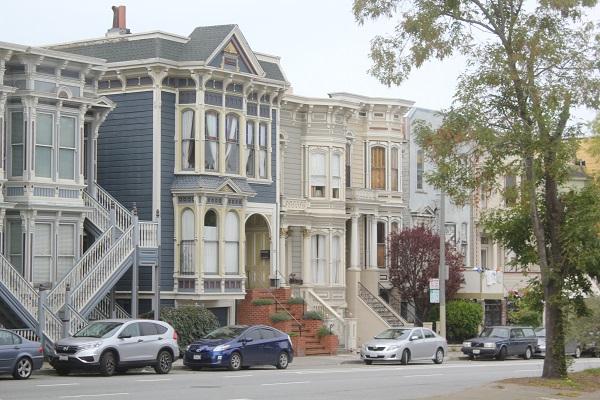 Alte Holzhäuser, typisch San Francisco
