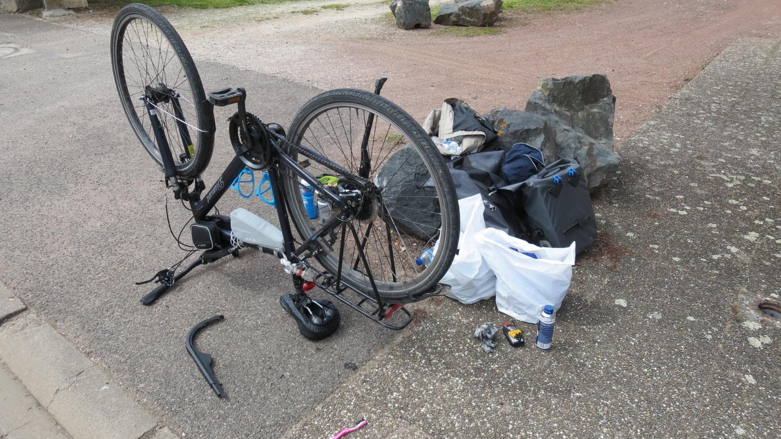 Fahrradwartung in Crévic