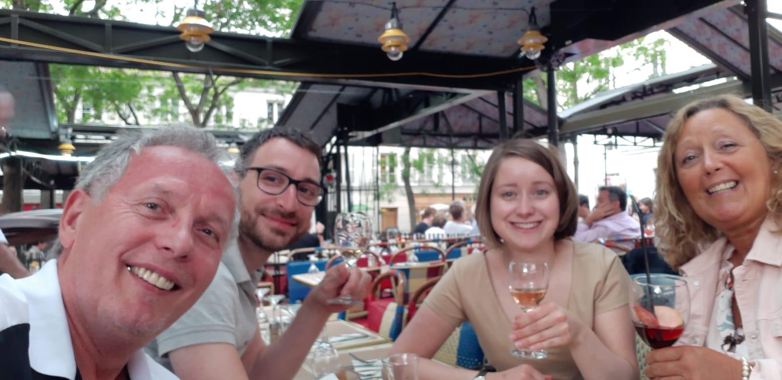Mit Inge und Werner in Montmartre