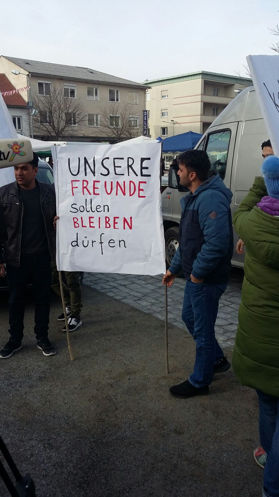 "Demonstration in Oberwart ""Keine Abschiebungen nach Afghanistan"" Jänner 2018"