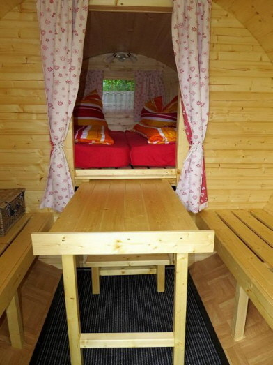 Distribución interior, el bajo cama es completamente practicable