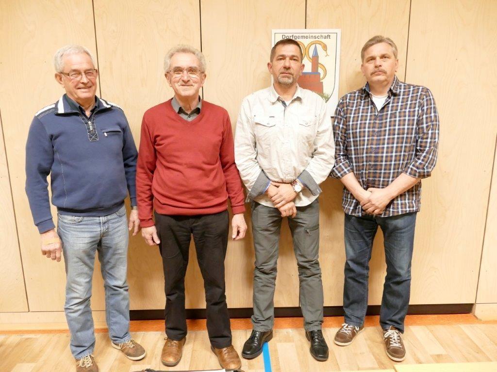 Scheidener Vorstand  von links: Gerhard Wippermann, Paul Langer / rechts: Andreas Traupe