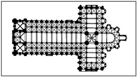 План базилики Сен-Сернен. 1096–1250Тулуза Франция