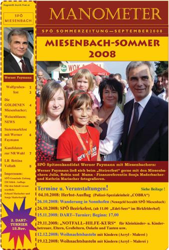 SPÖ Sommerzeitung 2008