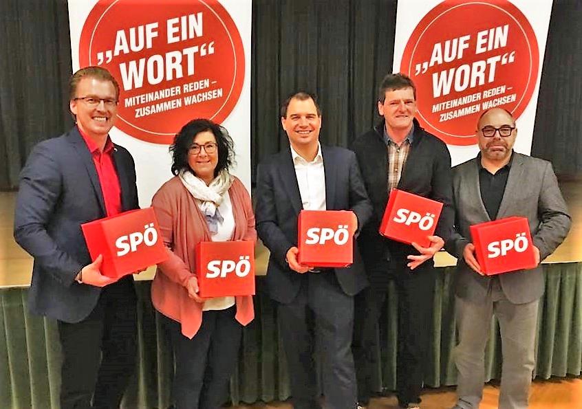 v.li.: LGF Oliver Wieser, GK Sonja Maderbacher, LH-Stv. Michael Schickhofer, GR Georg Goldgruber, NAbg. Klaus Feichtinger
