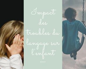 raccourci vers ressource impact des troubles du langage sur l'enfant