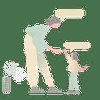 apprentissage du langage enfant. illustration.