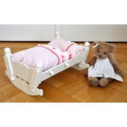 Puppenwiege mit Bettinhalt aus Tildastoffen