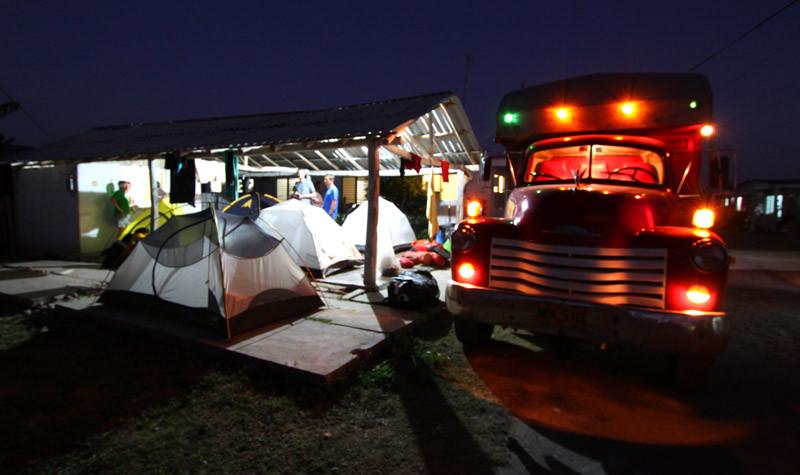 Camp au village de Caleta Muñuz
