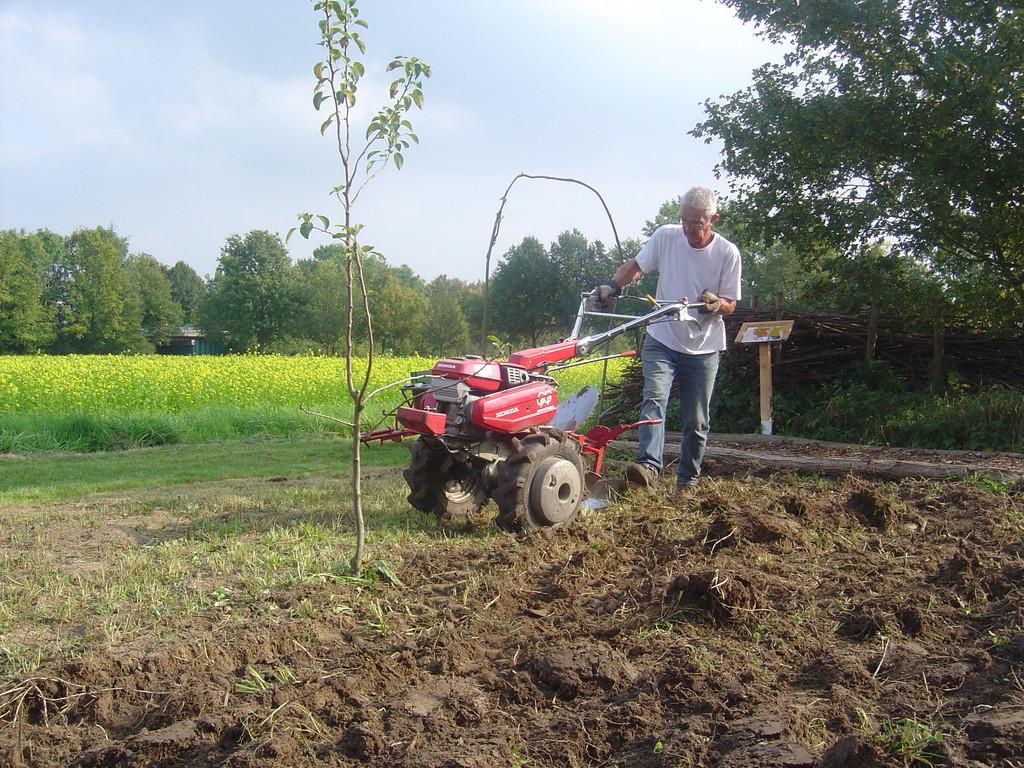 Bodenvorbereitung für die Einsaat der Wildblumenwiese