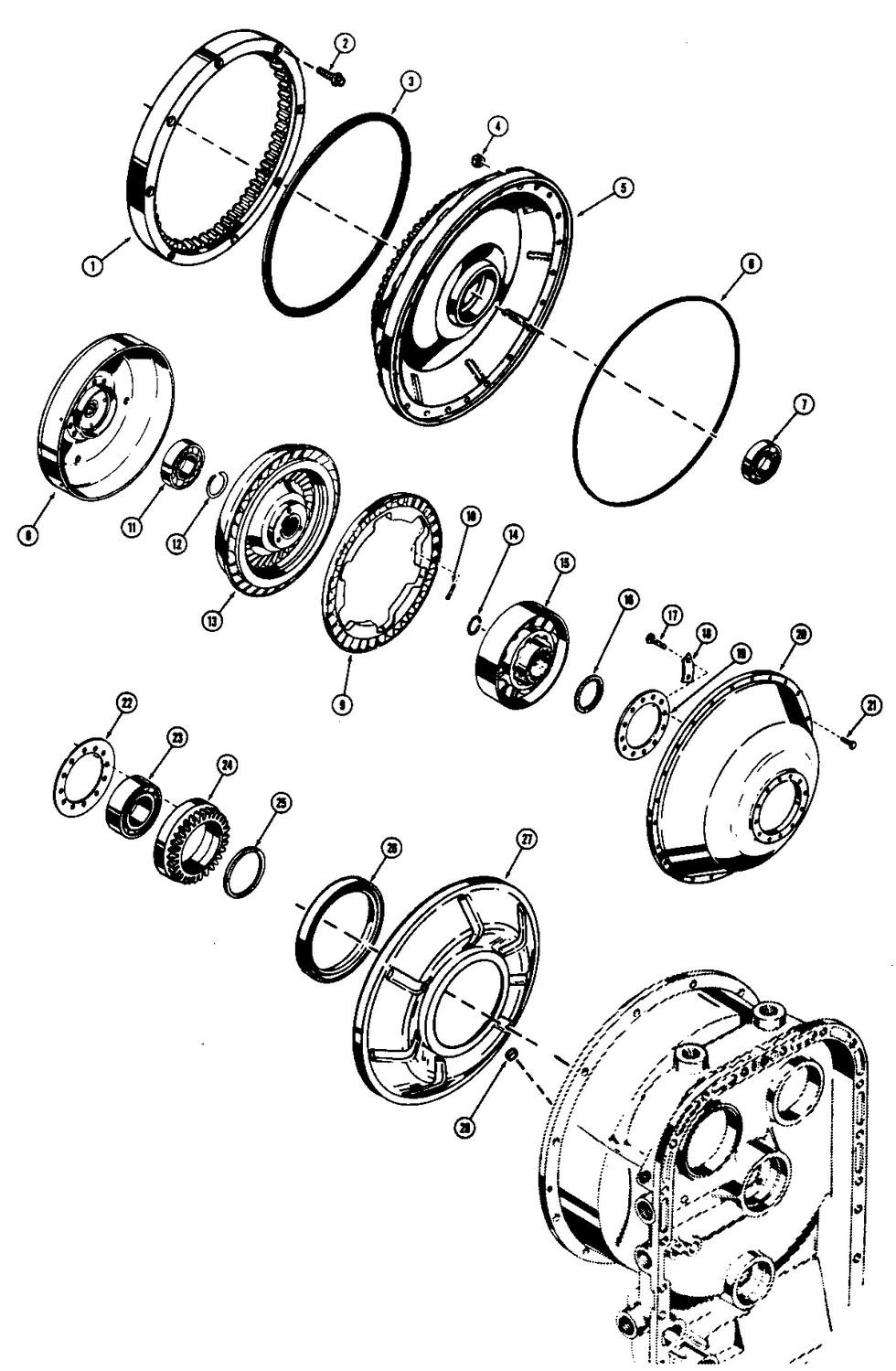 Borg Warner Transmission Parts >> CASE W24 PARTS - LES MACHINERIES ST-AMANT INC.
