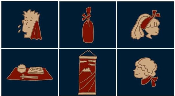 Usos del tenugui, como usar un tenugui
