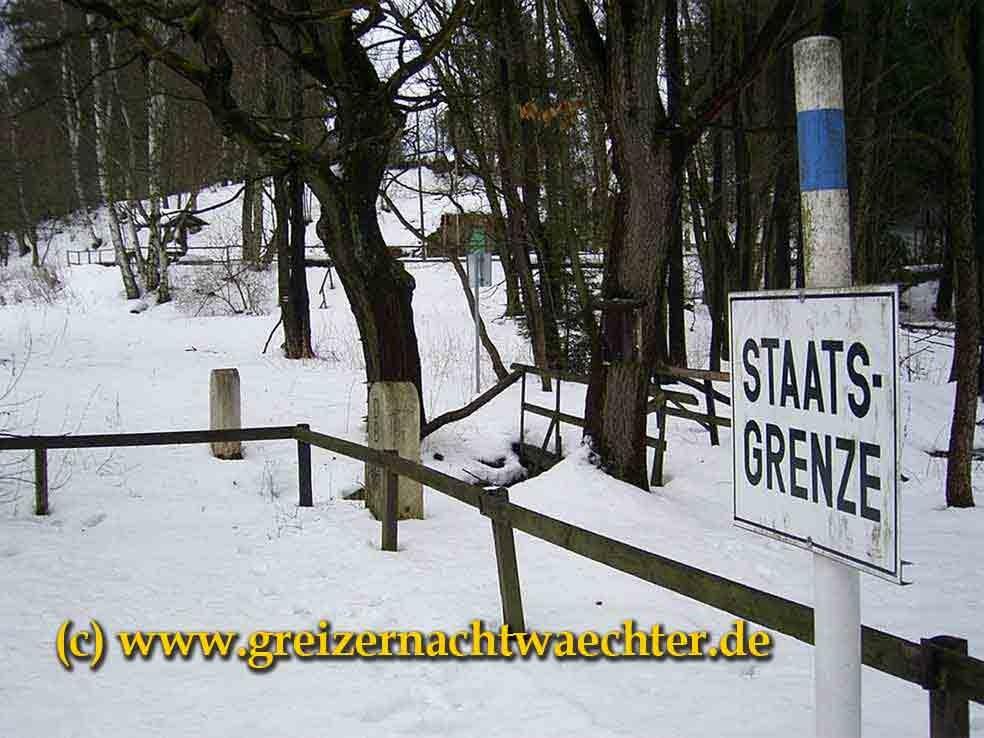 Am vogtländischen Dreiländereck, Blick von der bayerischen Seite nach Böhmen und Sachsen.