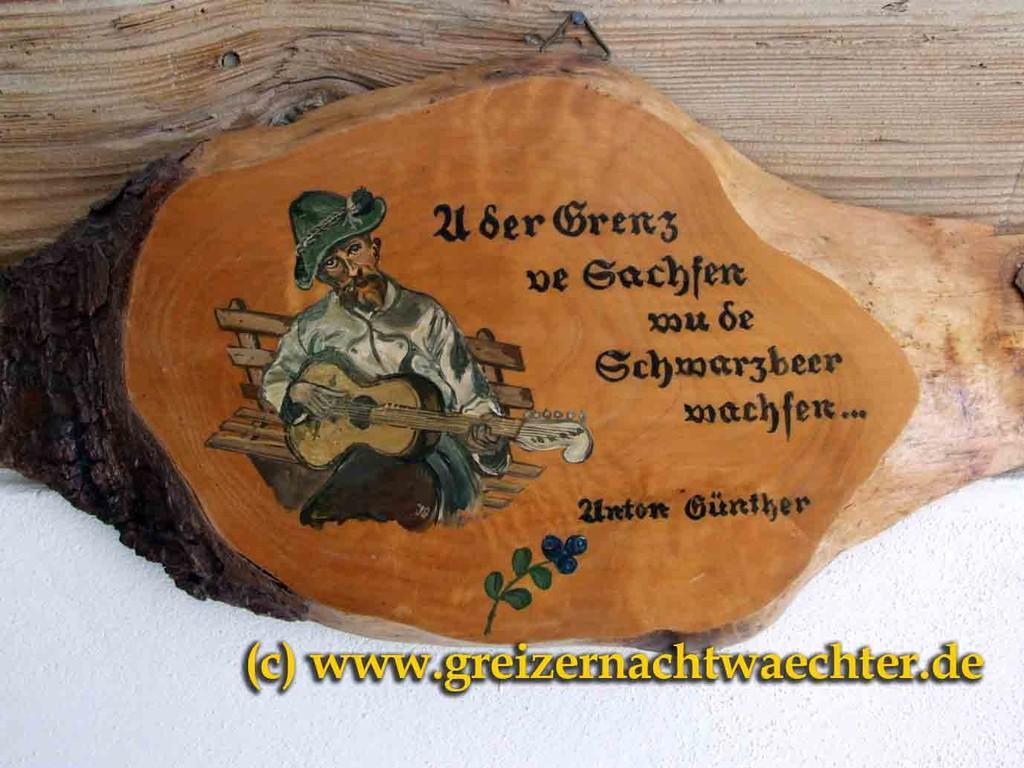 Der Erzgebirgssänger Anton Günther aus Gottesgab besang diese Grenze auf seine Weise.