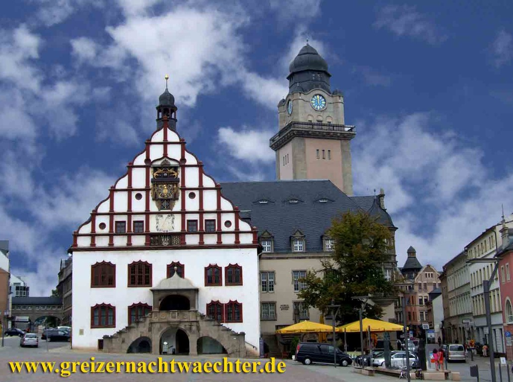 Plauen - Markt und Rathaus