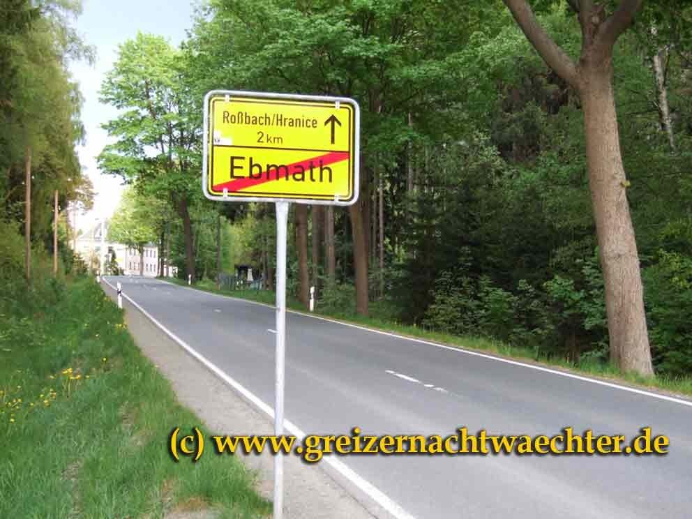 Straße nach Roßbach/Hranice (CZ)