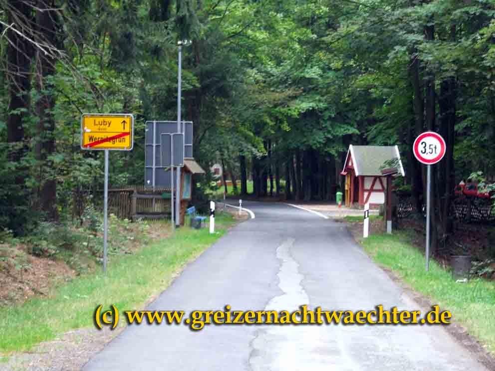 Idyllisch gelegen - der Übergang nach Böhmen auf dem Vogtlandkamm bei Wernitzgrün.