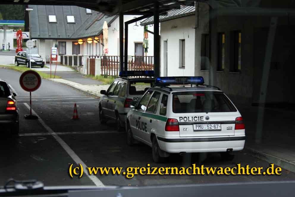 Längst Geschichte - Grenzkontrolle an einem Übergang bei Eger.