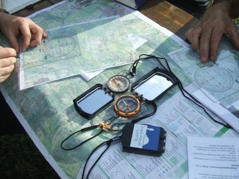 Karte, Kompass