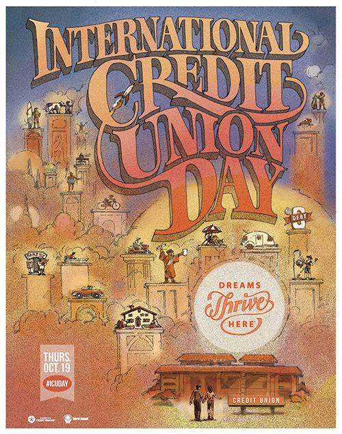 Плакат к Международному дню кредитных союзов 2017 год