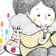 violaine costa illustration art artiste jeunesse autoportrait couleur