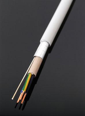 geschirmtes Kabel Typ NYM(St) mit schrittweiser Abmantelung