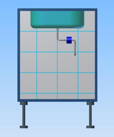 Wasservitalisierungsring an Spüle