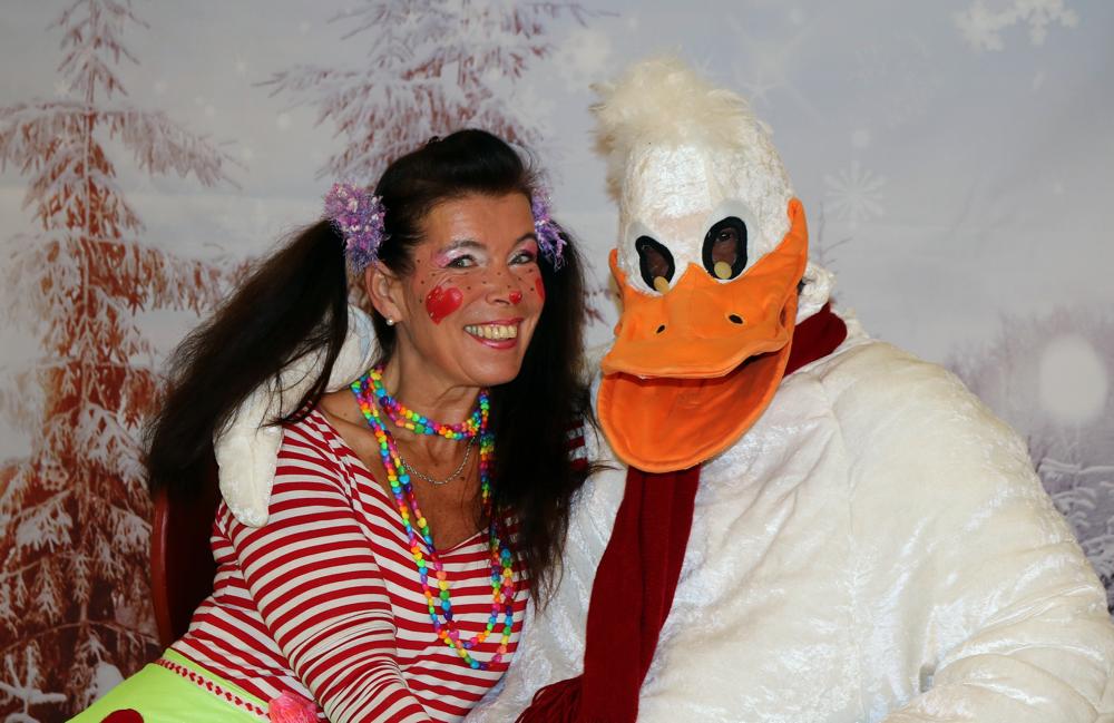 Clown Herzchen und die Weihnachtsgans