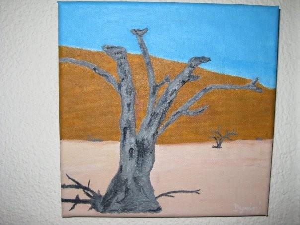Wüste aus Acryl, Pappmarchè, Gel...bereits verkauft