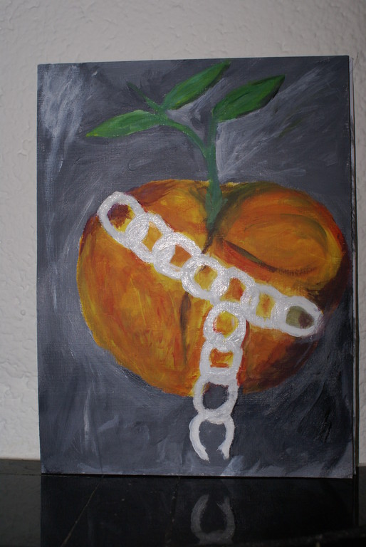 wachsender Apfel aus Acryl,Gel