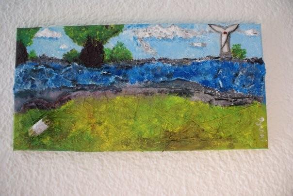Der Harz: Acrylbild aus Gips, Gel, Stroh, Papier....bereits verkauft
