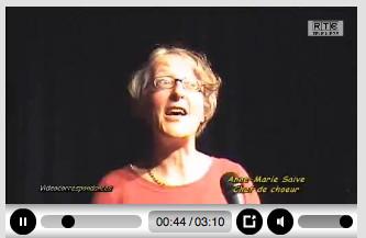 Notre chef de choeur, Marie-Anne SAIVE