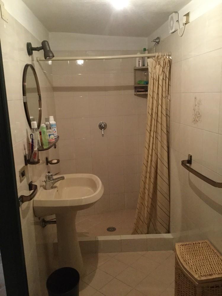 Badzimmer mit Dusche und WC