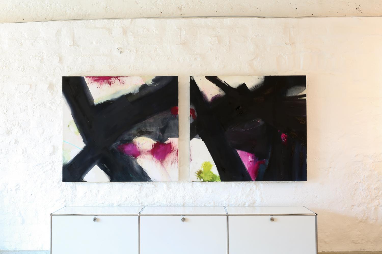 Kreuzung  1 und 2         110 x 200 cm