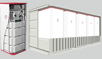 """EFH-Kompakteinheit bis Kaskade im 20"""" Container 250 kWh"""