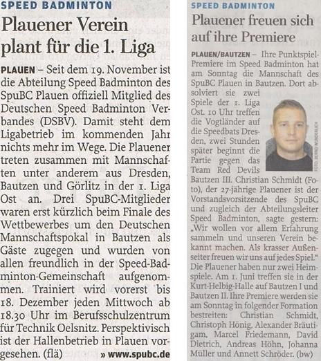 Freie Presse vom 29.11.2013 (links) & 28.03.2014 (rechts)