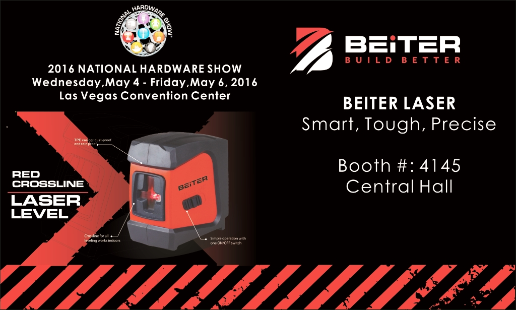 Come to join the 2016 National Hardware Show with Beiter